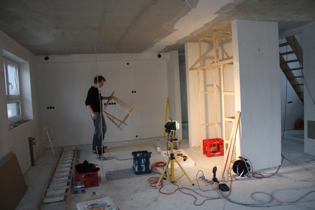 Frank beim Aufbau